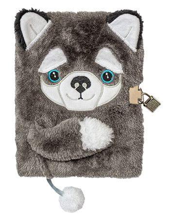 Zdjęcie Futerkowy pamiętnik z kłódką Pies A5 96 kartek - producenta MAJEWSKI