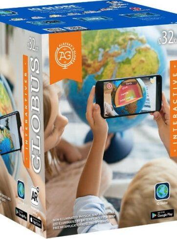 Zdjęcie Globus podświetlany 32cm z mapą fizyczną i polityczną i aplikacją AR - producenta DANTE