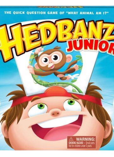 Zdjęcie Hedbanz Junior Kim jestem? gra towarzyska - producenta SPIN MASTER