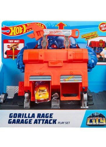 Zdjęcie Hot Wheels CITY zestaw Gorilla Rage Garage Attack - producenta MATTEL