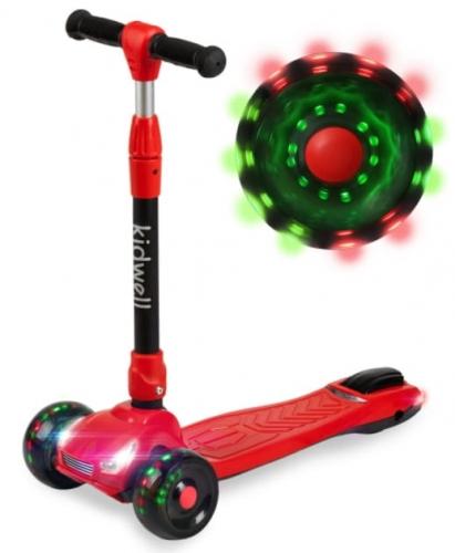 Zdjęcie Hulajnoga trójkołowa balansowa LED Czerwona - Kidwell Race - producenta KIDWELL