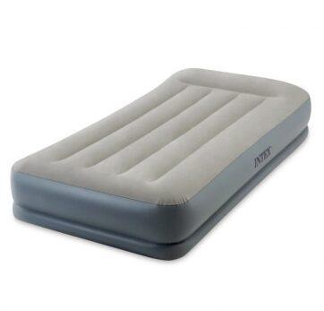Zdjęcie Jednoosobowe łóżko dmuchane z poduszką 99x191x30cm wbudowana pompka - producenta INTEX