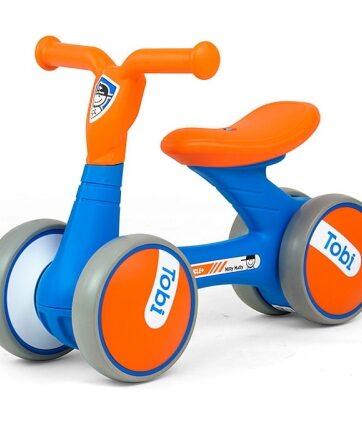 Zdjęcie Jeżdzik Rowerek biegowy Tobi niebiesko-pomarańczowy - Milly Mally - producenta MILLY MALLY