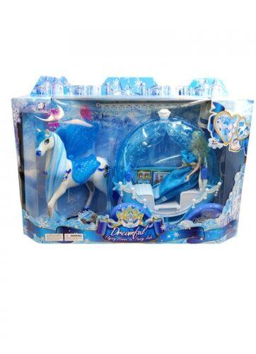 Zdjęcie Kareta dla lalek z koniem i lalką niebieska - producenta GAZELO