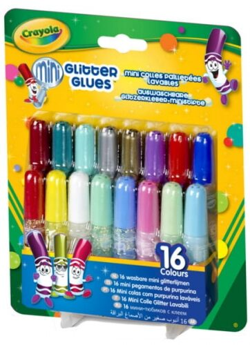 Zdjęcie Klej brokatowy mini 16 kolorów - Crayola - producenta CRAYOLA