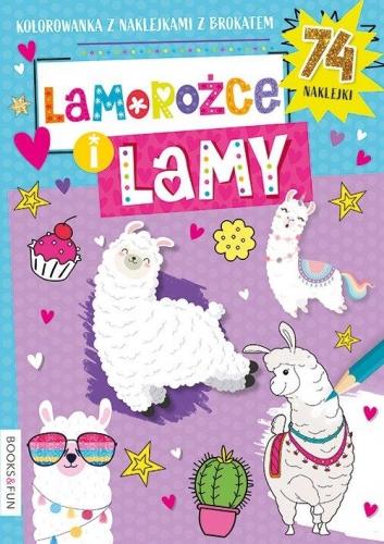 Zdjęcie Kolorowanka Lamorożce i lamy z naklejkami - producenta BooksAndFun