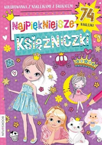Zdjęcie Kolorowanka Najlepsze księżniczki z naklejkami - producenta BooksAndFun