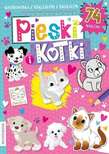 Zdjęcie Kolorowanka Pieski i kotki z naklejkami - producenta BooksAndFun