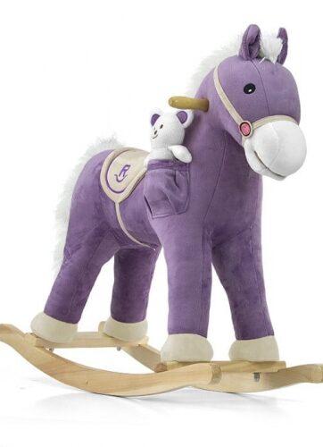 Zdjęcie Koń na biegunach Pony fioletowy - producenta MILLY MALLY