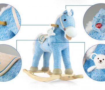 Zdjęcie Koń na biegunach Pony niebieski - Milly Mally - producenta MILLY MALLY