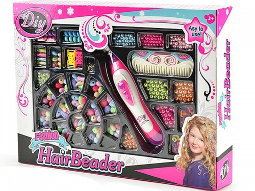 Zdjęcie Koraliki do stylizacji włosów z maszynką do nawlekania dla dzieci - producenta ADAR