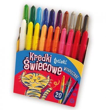Zdjęcie Kredki 20 kolorów świecowe wykręcane - producenta TETIS