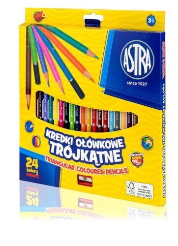 Zdjęcie Kredki 24 kolorów trójkątne ASTRA - producenta ASTRA