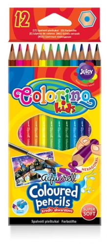 Zdjęcie Kredki akwarelowe 12 kolorów - Colorino Kids - producenta PATIO