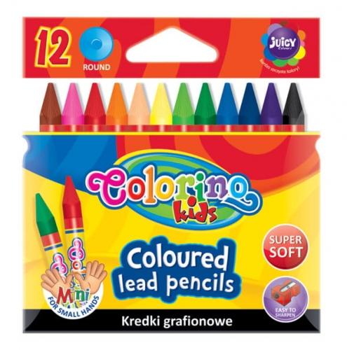 Zdjęcie Kredki grafionowe 12 kolorów - Colorino Kids - producenta PATIO