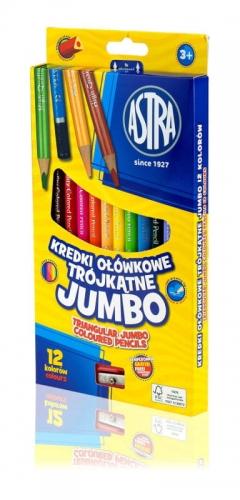 Zdjęcie Kredki ołówkowe Jumbo 12 kolorów ASTRA - producenta ASTRA