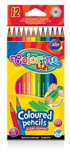 Zdjęcie Kredki ołówkowe heksagonalne 12 kolorów - Colorino Kids - producenta PATIO