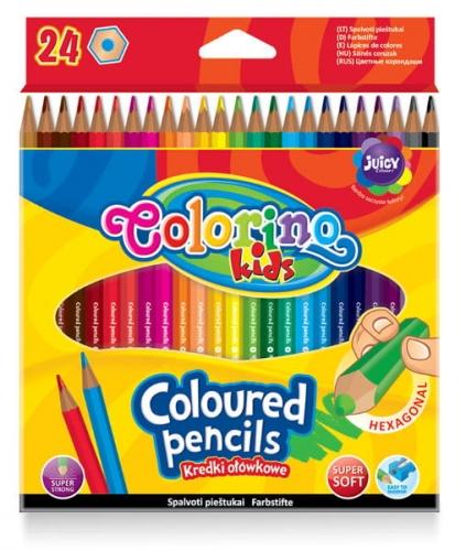 Zdjęcie Kredki ołówkowe heksagonalne 24 kolory - Colorino Kids - producenta PATIO