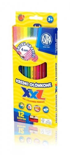Zdjęcie Kredki ołówkowe hexagonalne 12 kolorów - Astra - producenta ASTRA