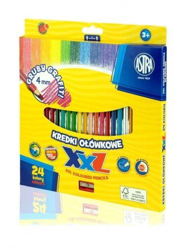 Zdjęcie Kredki ołówkowe hexagonalne 24 kolory - Astra - producenta ASTRA
