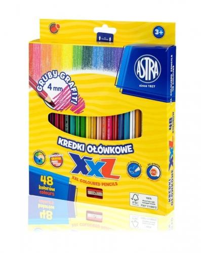 Zdjęcie Kredki ołówkowe hexagonalne 48 kolorów XXL - Astra - producenta ASTRA