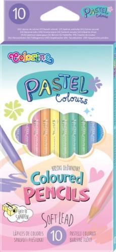 Zdjęcie Kredki ołówkowe okrągłe pastelowe 10 kolorów - Colorino Kids - producenta PATIO