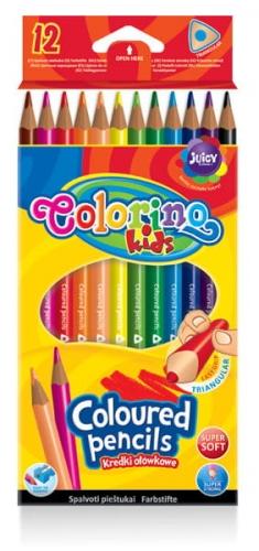 Zdjęcie Kredki ołówkowe trójkątne 12 kolorów - Colorino Kids - producenta PATIO