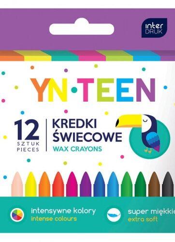 Zdjęcie Kredki świecowe 12 kolorów - producenta INTERDRUK