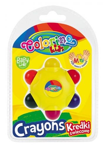 Zdjęcie Kredki świecowe Gwiazdka 6 kolorów - Colorino Kids - producenta PATIO