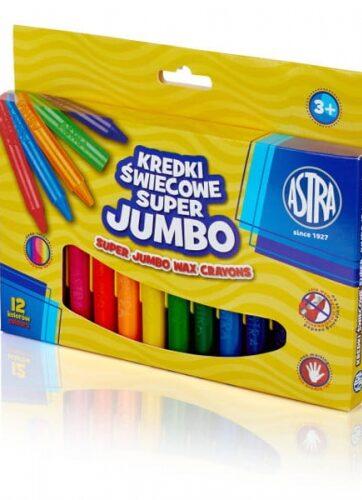 Zdjęcie Kredki świecowe Jumbo 12 kolorów 14mm/100mm - Astra - producenta ASTRA