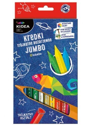 Zdjęcie Kredki trójkątne bezdrzewne Jumbo 12 kolorów - producenta DERFORM