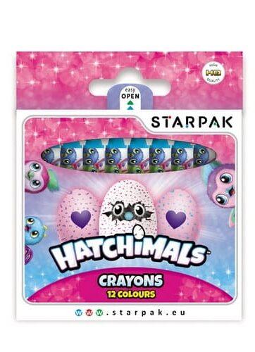 Zdjęcie Kredki woskowe 12 kolorów Hatchimals - producenta EURO-TRADE