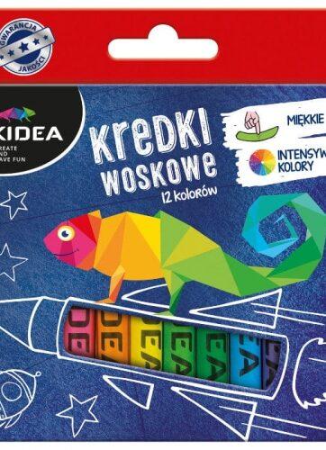 Zdjęcie Kredki woskowe 12 kolorów Kidea - producenta DERFORM