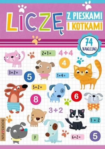 Zdjęcie Książka Liczę z pieskami i kotkami + naklejki - producenta BooksAndFun
