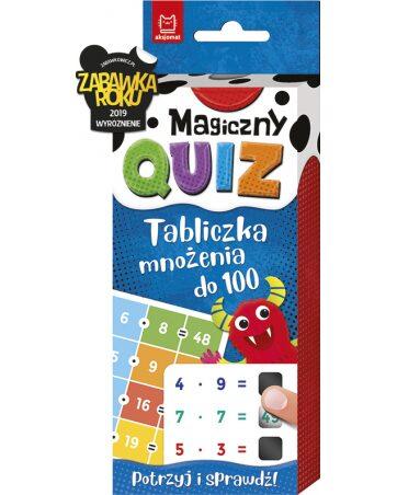 Zdjęcie Książka Magiczny quiz - Tabliczka mnożenia do 100 - producenta AKSJOMAT