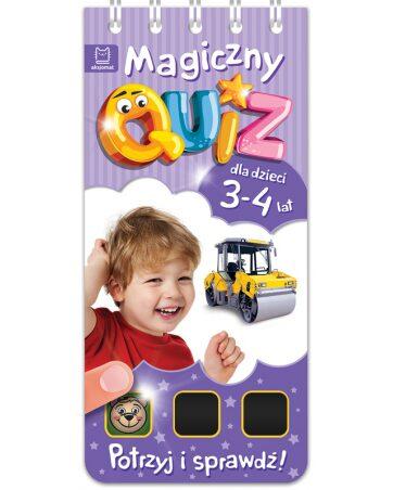 Zdjęcie Książka Magiczny quiz dla dzieci 3-4 lata - fioletowy - producenta AKSJOMAT
