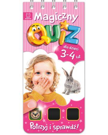 Zdjęcie Książka Magiczny quiz dla dzieci 3-4 lata - różowy - producenta AKSJOMAT