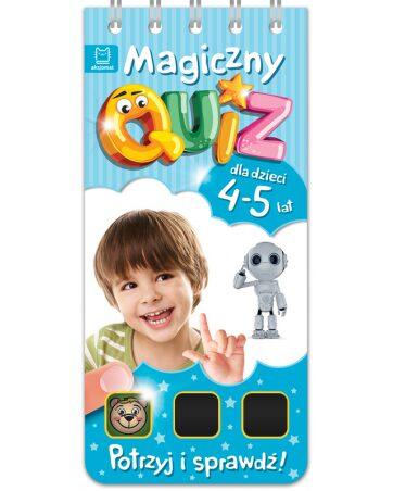 Zdjęcie Książka Magiczny quiz dla dzieci 4-5 lat - niebieski - producenta AKSJOMAT