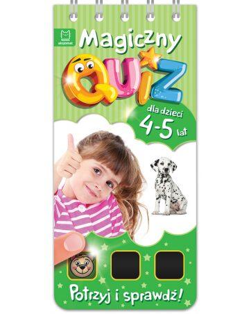 Zdjęcie Książka Magiczny quiz dla dzieci 4-5 lat - zielony - producenta AKSJOMAT