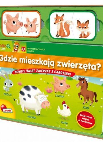 Zdjęcie Książka edukacyjna - Gdzie mieszkają zwierzęta? - producenta LISCIANI GIOCHI