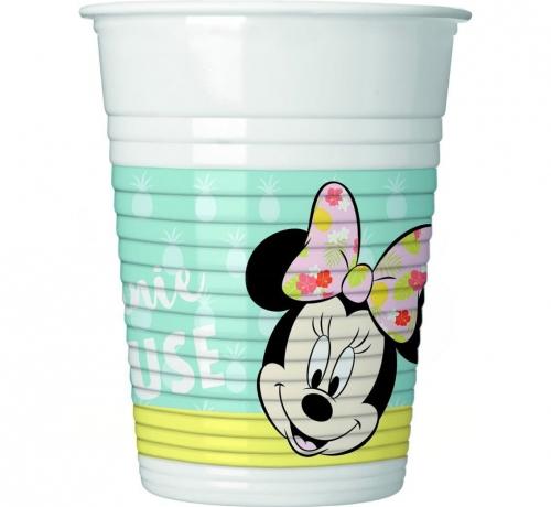 """Zdjęcie Kubeczki plastikowe """"Minnie Tropical Disney"""" 200ml"""