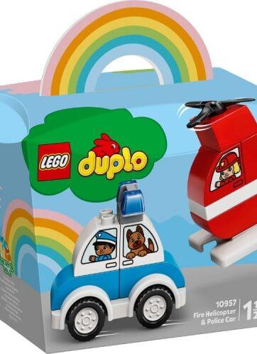 Zdjęcie LEGO 10957 DUPLO Helikopter strażacki i radiowóz - producenta LEGO