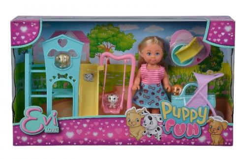 Zdjęcie Lalka Evi na placu zabaw dla szczeniaczków - producenta SIMBA