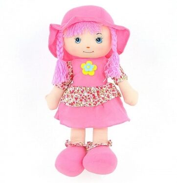 Zdjęcie Lalka szmaciana w różowej sukience 60 cm - producenta ADAR