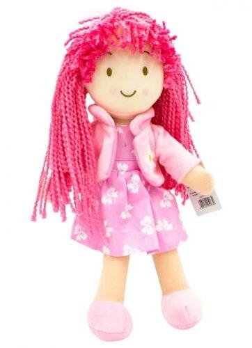 Zdjęcie Lalka szmacianka różowe włosy Ola 33 cm - producenta AXIOM