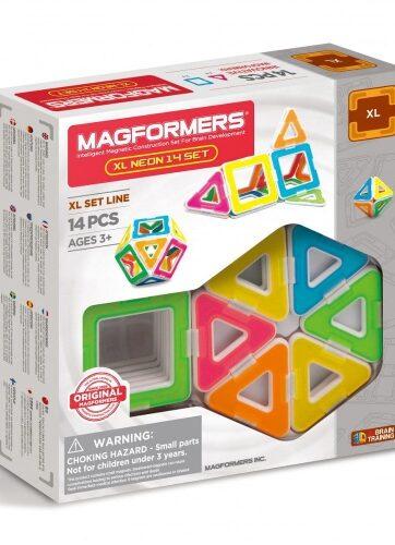 Zdjęcie MAGFORMERS XL Neon Klocki magnetyczne 14 el - producenta DANTE