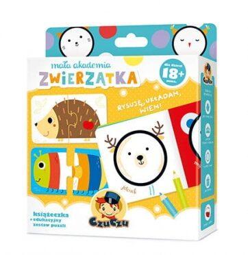 Zdjęcie Mała Akademia CzuCzu Zwierzątka Ksiązeczka + edukacyjny zestaw puzzli - producenta CZUCZU