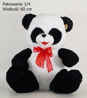 Zdjęcie Maskotka Panda z kokardą olbrzymia - producenta DEEF
