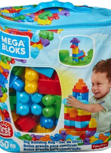 Zdjęcie Mega Bloks First Builders Klocki Maxi niebieskie 60el - producenta MATTEL