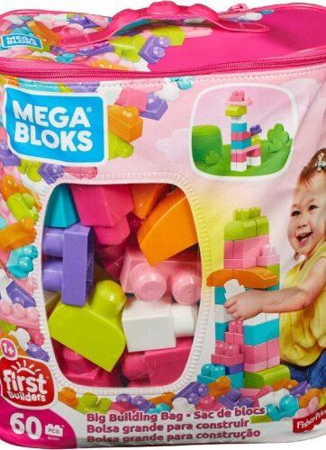 Zdjęcie Mega Bloks First Builders Klocki Maxi różowe 60el - producenta MATTEL